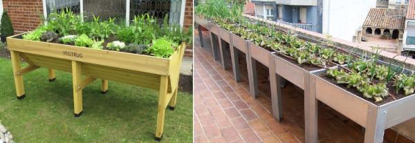 Recipientes de cultivo para el huerto urbano for Que es una mesa de cultivo