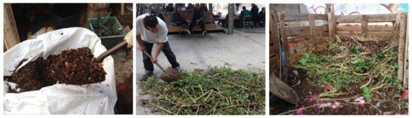Haciendo compost para el huerto
