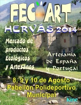 Cartel de la feria FECOART HERVÁS 2014
