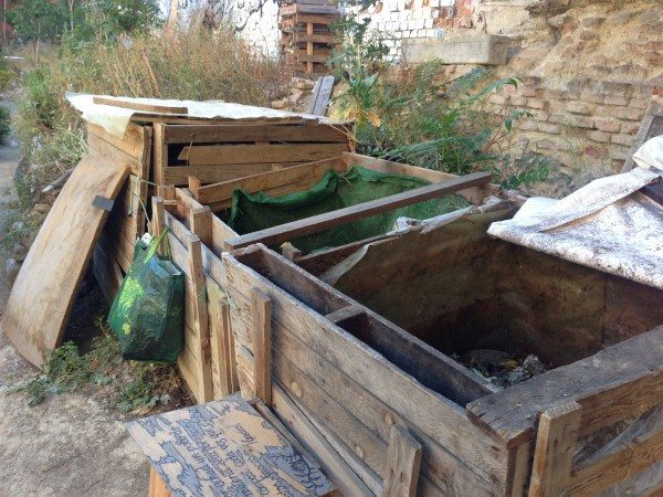 Compostera de huerto en Lavapies