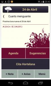 App EcoHuerto para nuestro Huerto
