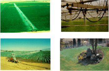 Diferentes métodos de riego por aspersion