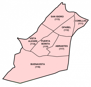 Barrios de Carabanchel (Fuente: www.wikipedia.org)