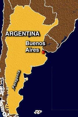 Localización de Buenos Aires en Argentina (Fuente: www.viajesok.com)