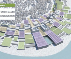 Aquí podemos observar el novedoso sistema de terrazas en función de las inundaciones.