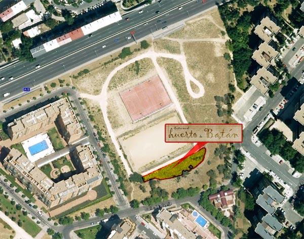 Localización del Huerto de Batán (Fuente wwwelhuertodebaatan.blogspot.com.es)