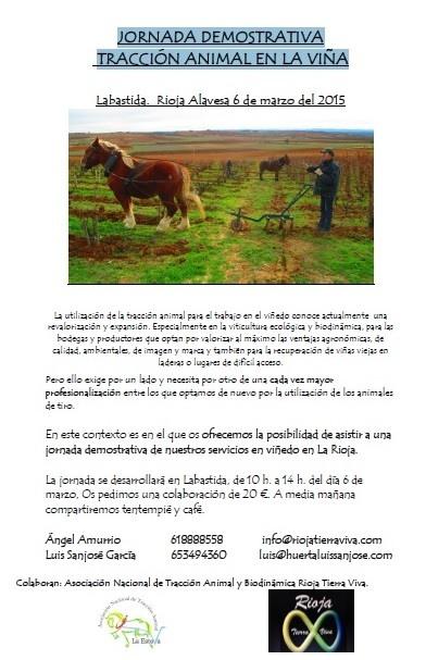 Jornada Demostrativa de Tracción animal en la Viña
