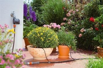 Riego por goteo en macetas (Fuente: www.bricolaje.facilisimo.com)