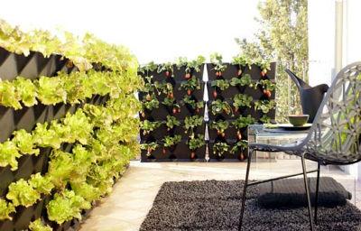 tipos de macetas para el huerto vertical - Jardineras Verticales