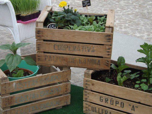 """Los """"planters"""" o """"cajas de cultivo"""" de """"Jardines que se comen"""""""