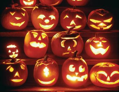 Calabazas decoradas para Halloween (Fuente: www.todomanualidades.net)