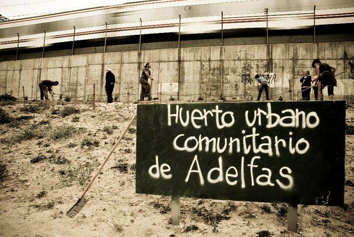 Huerto comunitario Adelfas (Fuente: www.aavvmadrid.org)
