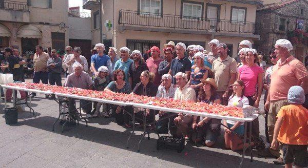 Los participantes en la Feria del Hortelano