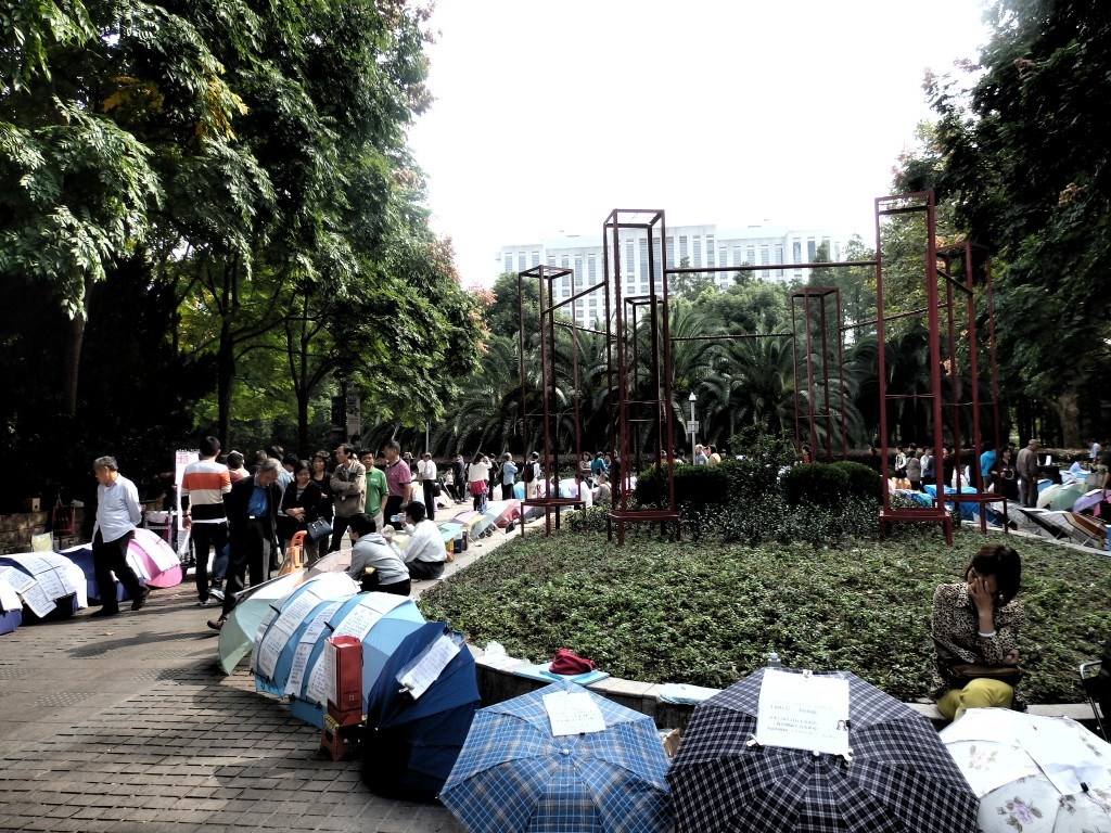 Renmin Park en Shanghai: Padres buscando pareja para sus hijos