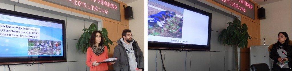 Huerto escolar en Beijing (China)