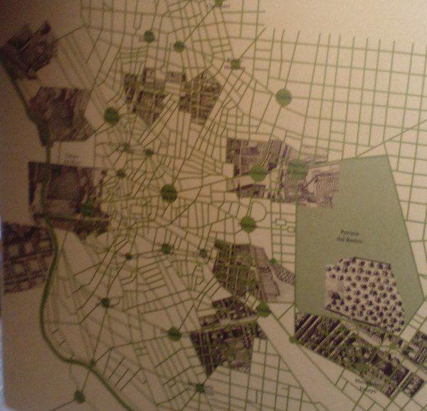 Plano de Texeira sobre las huertas y jardines de Madrid en el siglo XVII