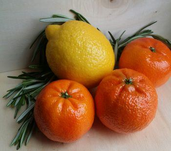 romero, limón , mandarina