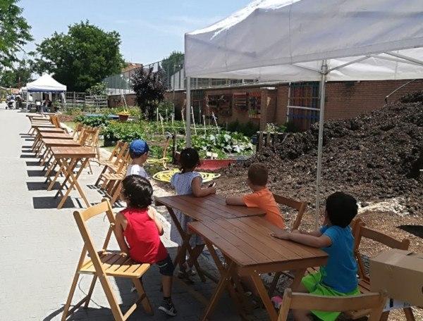 concurso de huertos escolares en el huerto del retiro
