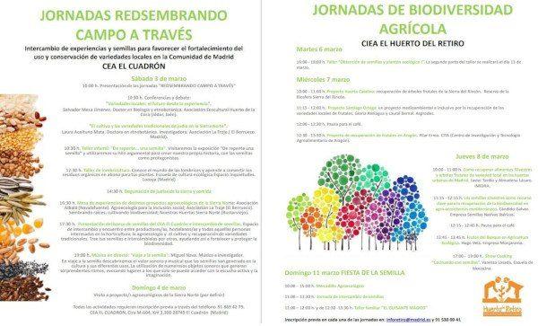 jornadas sobre huertos ecológicos y biodiversidad en Madrid